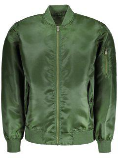 Mens Bomber Jacket - Army Green Xl