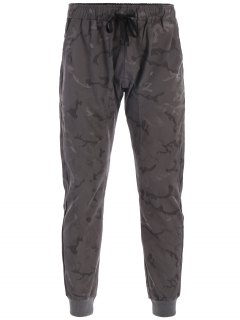 Halloween Skull Camo Print Jogger Pants - Deep Gray 3xl