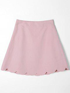 Mini Scalloped Edge Skirt - Pink M