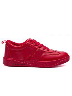 Letter Print Stitching Skate Shoes - Red 40