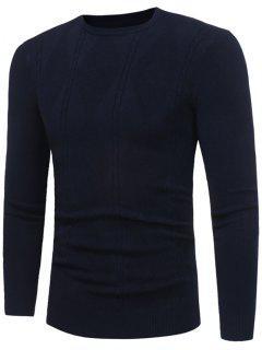 Rhombus Patrón Jersey De Cuello Redondo - Azul Purpúreo Xl