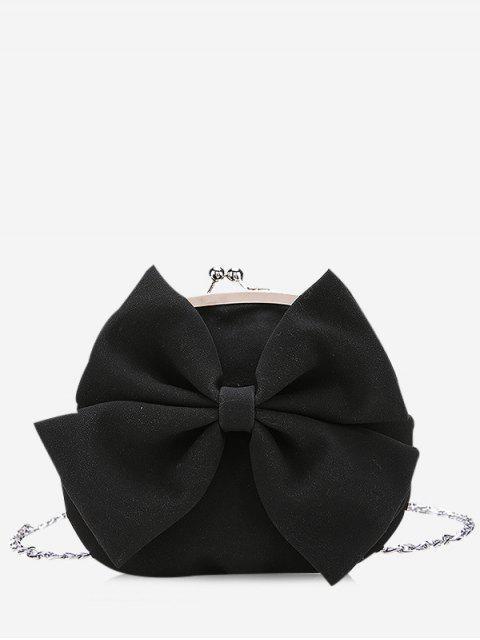 Sac à bandoulière Chain Bowknot - Noir  Mobile