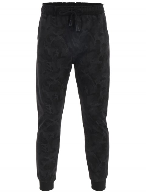outfit Drawstring Camo Print Jogger Pants - ACU CAMOUFLAGE 4XL Mobile