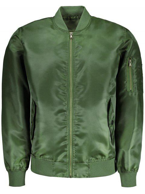 trendy Mens Bomber Jacket - ARMY GREEN 5XL Mobile