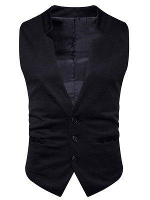 V Neck Edging Single Breasted Waistcoat