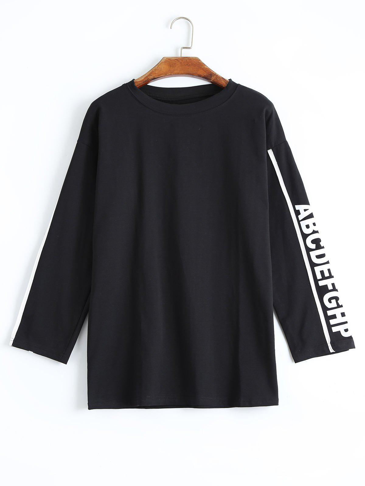 Image of Longline Alphabet Letter T-shirt