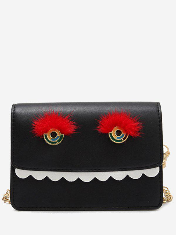 Scallop Teeth Eyes Crossbody Bag