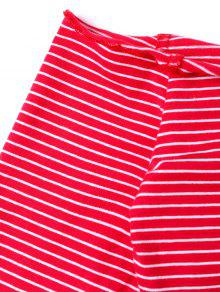 9ff2fac51db 20% OFF] 2019 Striped Off The Shoulder Crop Top In RED | ZAFUL