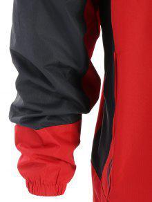 Chaqueta De Cortavientos Bloque Rojo M Color De n8Zqn6xrC