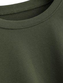 Ejercito M Elastic Cuffs Oversized Sudadera Verde wgtxTq
