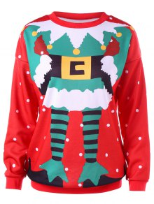 Camiseta Impresa La Navidad Del Lunar - Rojo 2xl
