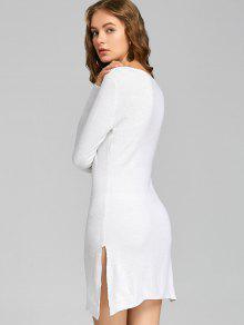 Vestidos de punto blanco