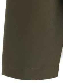 Cintur Verde Bolsillos Y 243;n Del Ej Capucha Con Con Abrigo TROq77