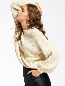 Oversized Lantern Sleeve Sweater OFF-WHITE: Sweaters ONE SIZE | ZAFUL