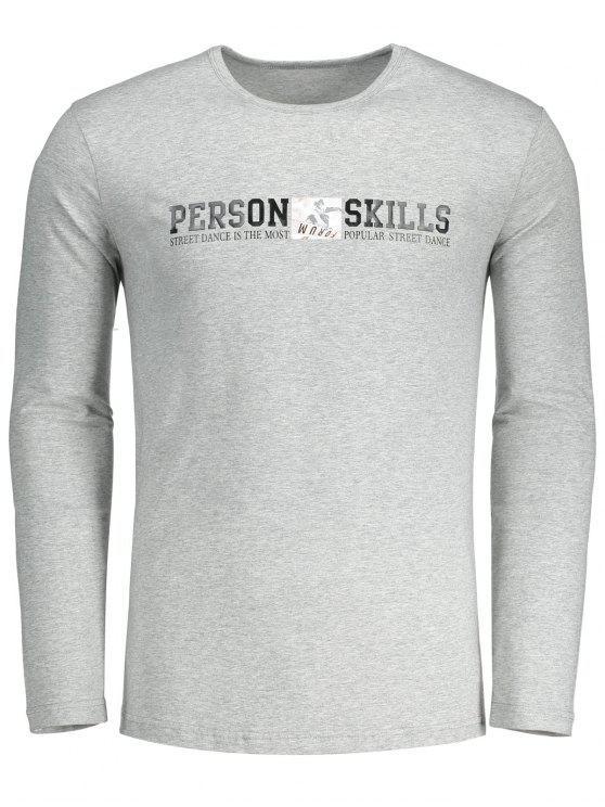 T-shirt gráfico das habilidades da pessoa - Cinza L