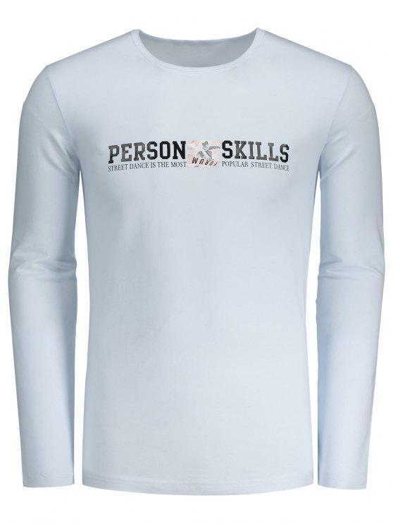T-shirt gráfico das habilidades da pessoa - Branco L