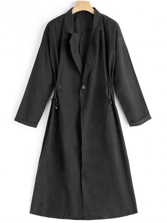 Trench-coat à Un Bouton et Col Tailleur - Noir M