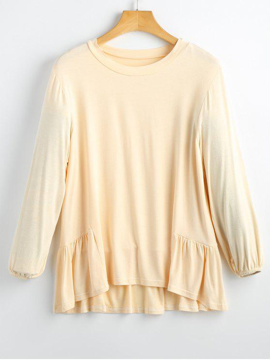 Sweat-shirt Haut-Bas à Volants - Palomino S