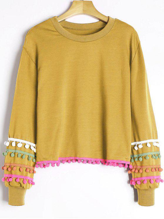 Sweat-shirt à Pompons Colorés - Curcumae Taille Unique