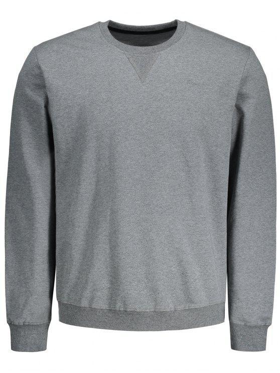 Sweat-shirt Simple - gris L