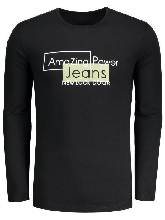 Camiseta asombrosa gráfica del poder - Negro L