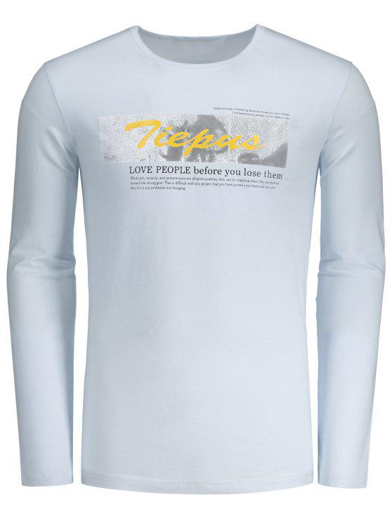 online Round Neck Graphic Tiepus T-shirt - WHITE L