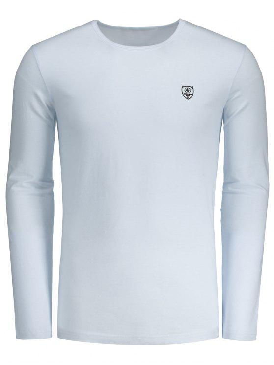 hot Slim Fit Long Sleeve Tee - WHITE XL
