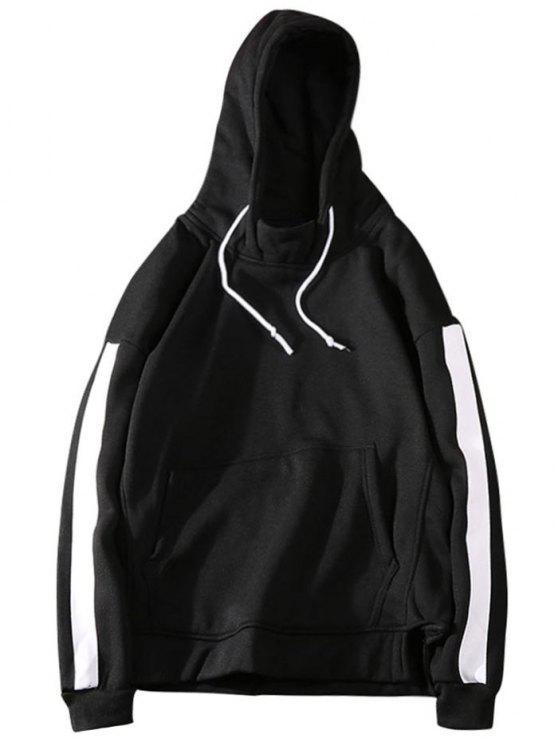 هوديي مخطط صوف للرجال - أسود XL