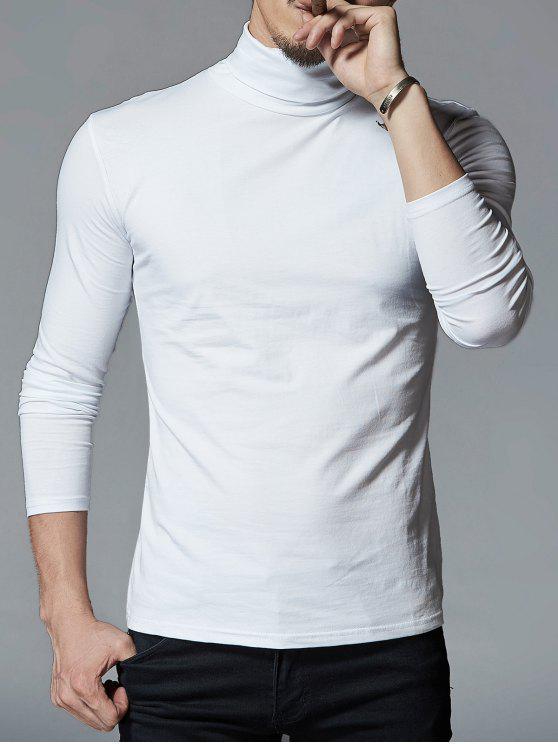 28 off 2020 t shirt homme stretch col roul dans blanc zaful france