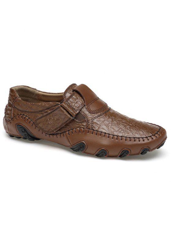 أحذية مريحة مبرزة سهلة للارتداء - BROWN 42