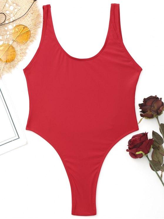 f607bb0fbd9 11% OFF] 2019 High Cut Backless Thong Swimwear In RED | ZAFUL
