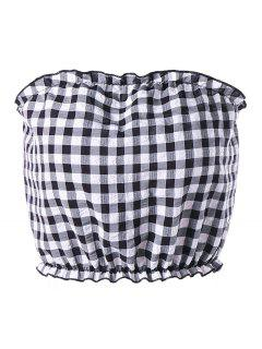 Gingham Tube Top - Checked Xl
