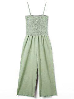 Spaghetti Strap Wide Leg Jumpsuit - Green M