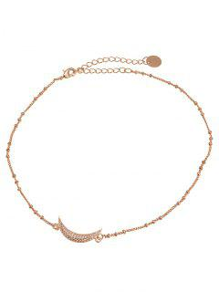 Moon Shape Design Choker Necklace - Golden
