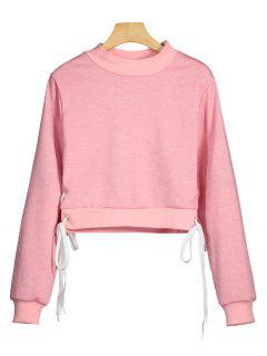 Sweat à Capuche à Encolure Latérale - Rose PÂle Xl