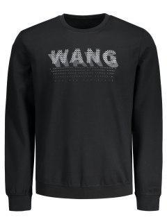 Graphic Wang Print Sweatshirt - Black L