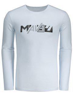 Camiseta Para Hombre De La Letra - Blanco L