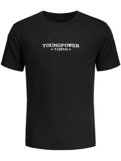 Graphic Young Power T-shirt - Black L