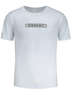 Graphic Tiepus Pattern T-shirt - White L