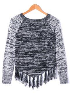 Tassel Long Sleeve Sweater - M