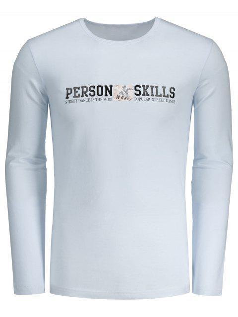 Camiseta gráfica de las habilidades de la persona - Blanco L Mobile