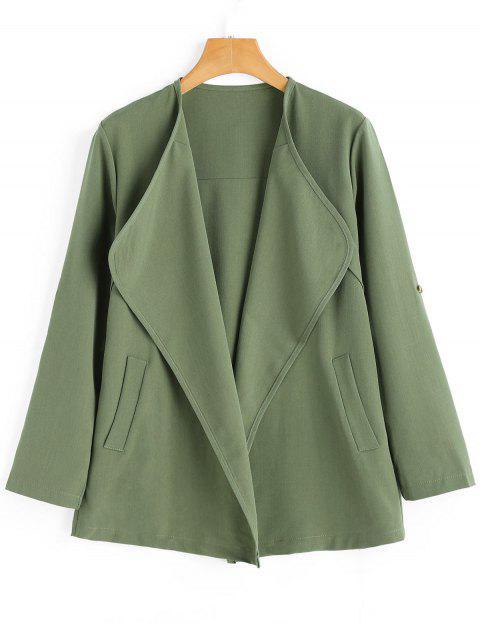 Abrigo abierto con bolsillos - Verde del ejército S Mobile