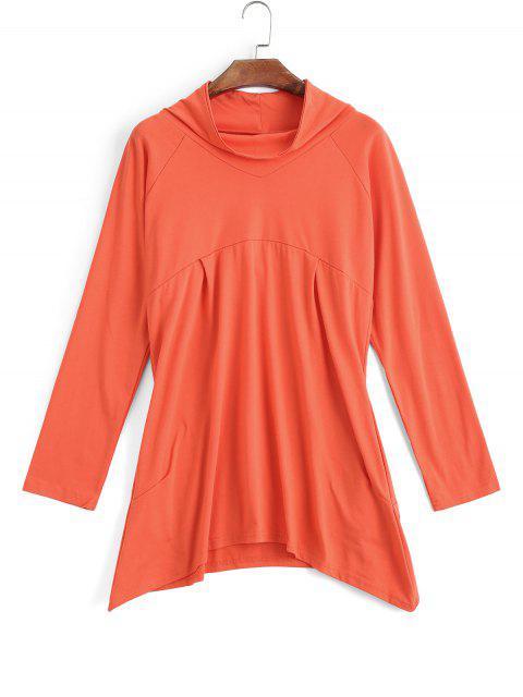 Sudadera con cuello simétrico asimétrico - Naranja Rosa S Mobile