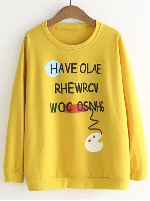 Camiseta linda de la letra de la paleta linda - Amarillo Única Talla Mobile