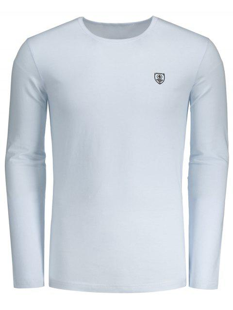 shop Slim Fit Long Sleeve Tee - WHITE L Mobile