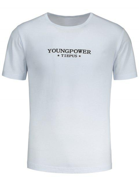Graphic Young Power T-shirt - Blanc L Mobile