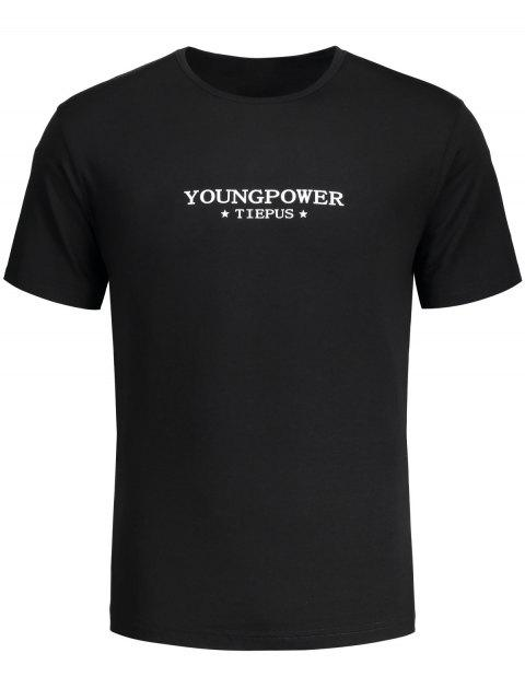 Graphic Young Power T-Shirt - Schwarz 2XL Mobile