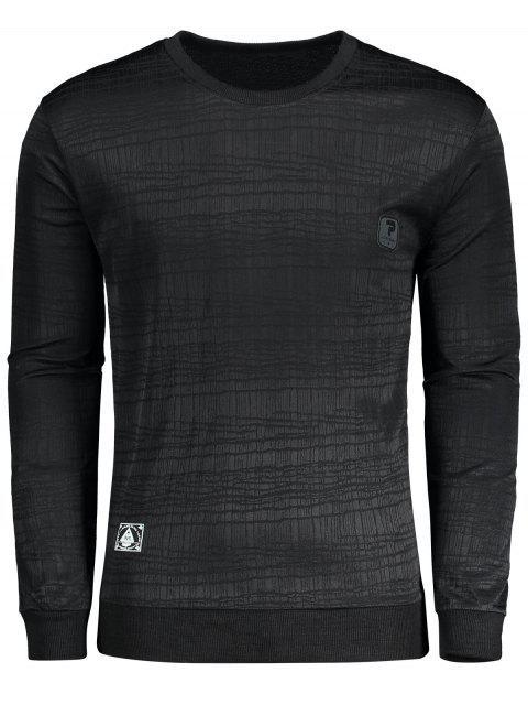 T-shirt à Label - Noir 2XL Mobile