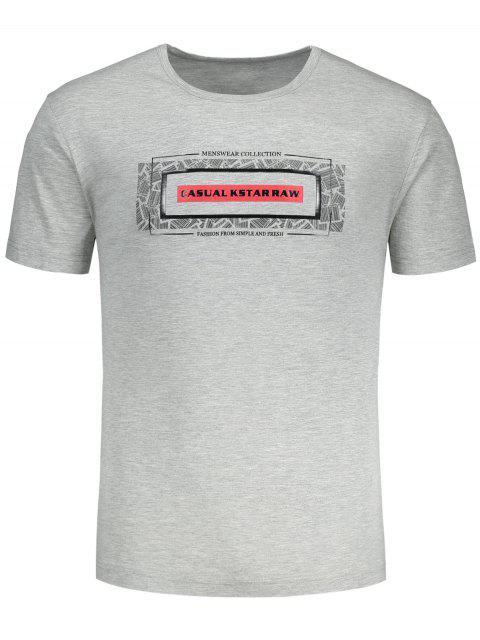 T-shirt graphique à manches courtes - Rouge XL Mobile