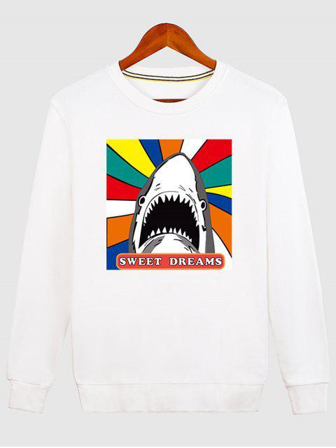 lady Letter Graphic Cartoon Sweatshirt - WHITE XL Mobile